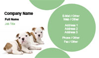 Two Puppies Business Card Template
